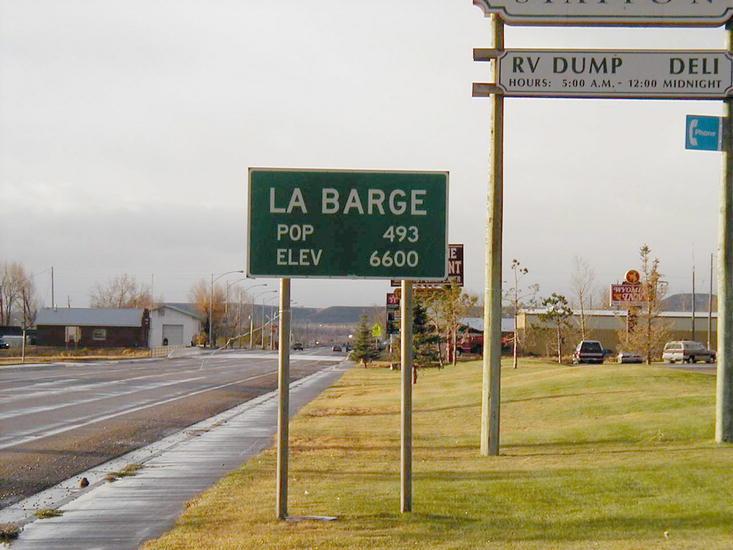 Wyoming Population Sign